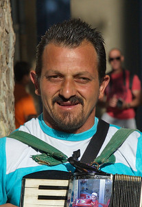 Portrait of the Italian accordion player