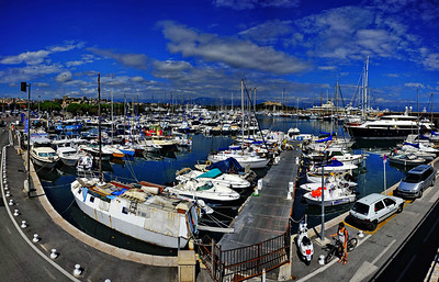 Antibes yacht basin; a panoramic view