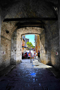 Entering the old city through the main gate