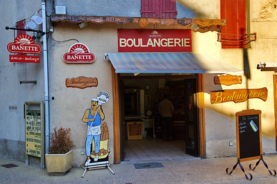 Sault:  The next morning I was up early photographing the surrounding landscape.  The local boulangerie (bakery) was one of the first places to open.  The cafe had the coffee and I had breakfast.