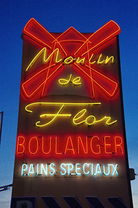 This Boulangerie is on the road between Nice and Vence.  It's the only one I've ever seen with a neon sign.  If you were headed home to Vence or its neighborhood and the wife said to pick up a loaf of bread, this is where you would stop.