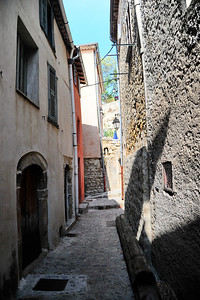 A narrow street in Coaraze