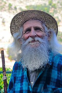 This elderly French gentleman tipped his hat to my wife and her sister.  I caught up with him and asked him to poise for a picture.  I took three.