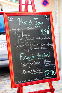 Plat du Jour or what's on the menu and the blue plate special