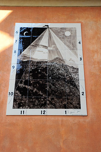 I photographed 6 different sundials.  This is the first. They were all wrong on the time.