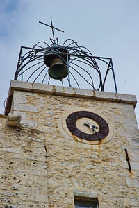 A common sight in Provence is the wrought iron exposed bell tower.  It is not found on the church, but rather the tallest building.