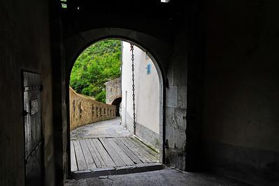 The back gate was also a draw bridge.