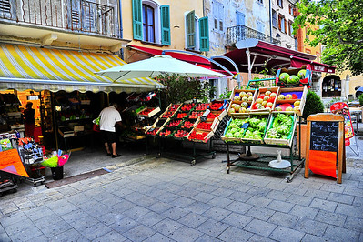 Fruit market in the town square
