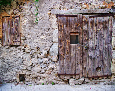 a door with character