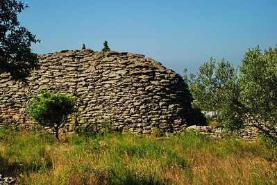 """Just to the west of Gordes is the """"Village de Bories"""", a community of pre-medieval rock huts.  I was not interested in photographing these rock houses so we by-passed this landmark and drove 5km north to the Senanque Abbey."""