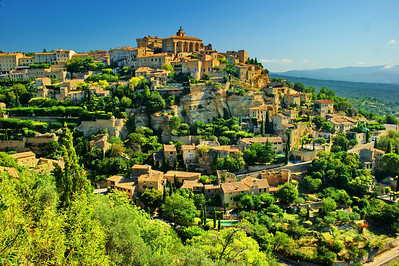 Gordes with a 24mm wide angle lens