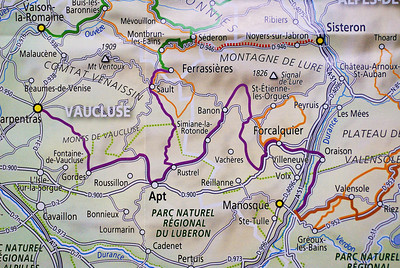 Routes de Lavende in the Vaucluse, Provence France, from the brochure