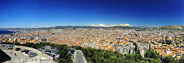 View of Marseille from Notre Dame de la Garde