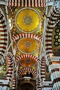Marseille, France Notre Dame de la Garde, ceiling