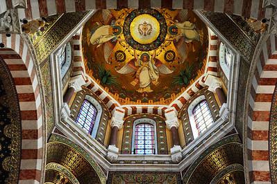 Marseille, France Notre Dame de la Garde, dome ceiling