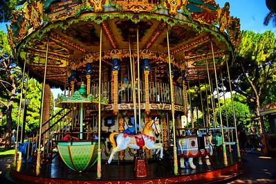Huge carousel near the beach