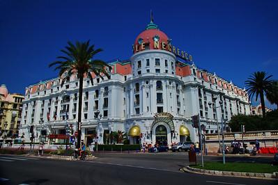the famous LeNegresco Hotel