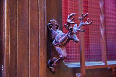 Deer head door knocker
