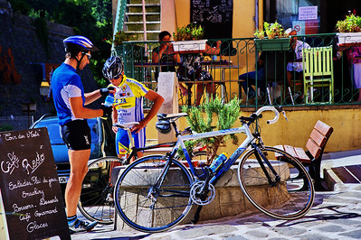 Luceram cyclists refill and refresh