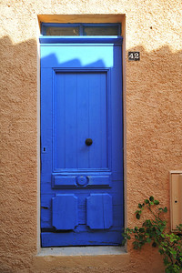 French blue door
