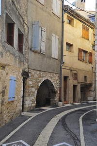 Quiet village street in Greolieres