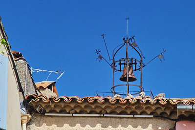 These Provence villages usually had a wrought iron bell which was rung to alarm people of the village and those outside the village.
