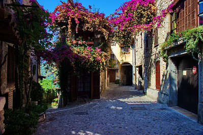 Cagnes_Medieval_Village_Flowered_Walkway_LAN3343
