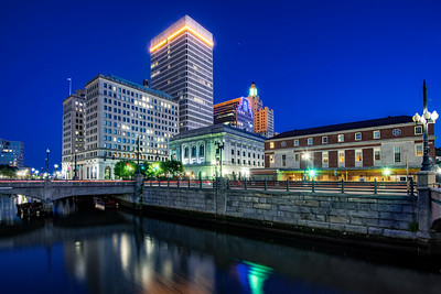 Providence Skyline at night, Rhode Island