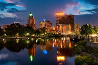 Providence Skyline reflection on Providence River