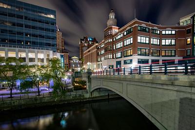 Night shot of Downtown providence, Providence Place, RI