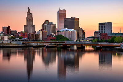 Providence Skyline before Sunrise, Rhode Island