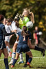 Providence #4 Jordan Reger taking scoring with close action in the box.
