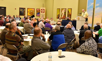 Fr. Ed welcomes Reunion and Assembly participants