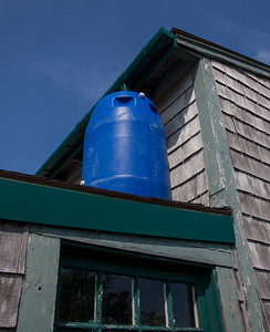 Fowler Shack solar hot water tank for the outsoor shower.