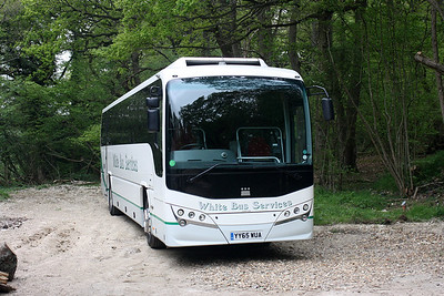 Volvo B8R YY65 WUA at Nower Woods, Dorking.