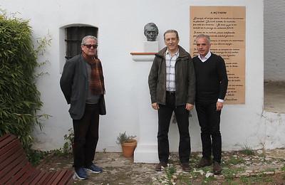 Virgio Pérez-Clotet (presidente Fundación), Iñigo Sánchez (presidente SGHN) y Alfonso Moscoso (alcalde Villaluenga).