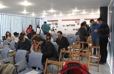 Llegada de voluntarios y participantes.