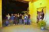 Algunos voluntarios tras un recuento nocturno en el Zoobotanico de Jerez