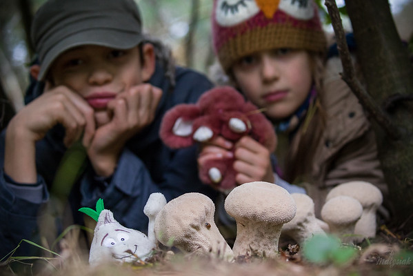 Pluszaki z wizytą u leśnych kumpli