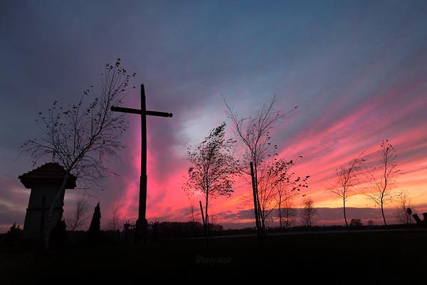 Krzyż w płomieniach