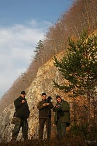 Ekipa fotografów podczas wyprawy na pomurnika w Górach Kaczawskich ©Mateusz Matysiak