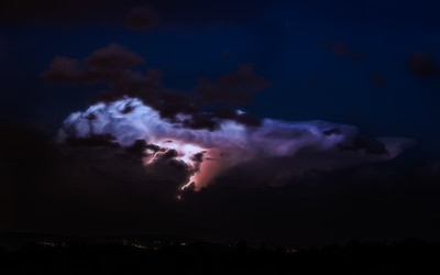 Electrified clouds