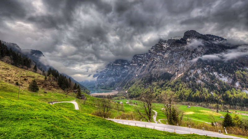 Kloental, Glarus, Switzerland, Swiss Mountains, HDR Timelapse