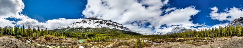 Mosquito Creek Panoramic View - HDR @ Icefields Parkway