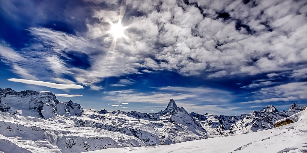 Rothorn View on Swiss Mountains