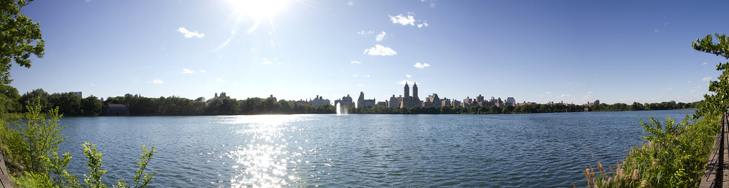 in the middle of Central Park ...