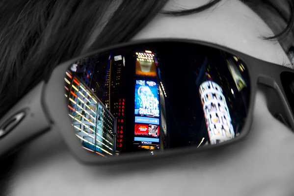 Times Square View throught the sunglasses ..
