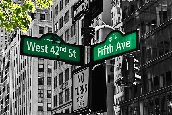 Signs Fifth Avenue
