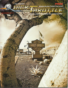 November 2010 Cover of Quick Throttle Magazine