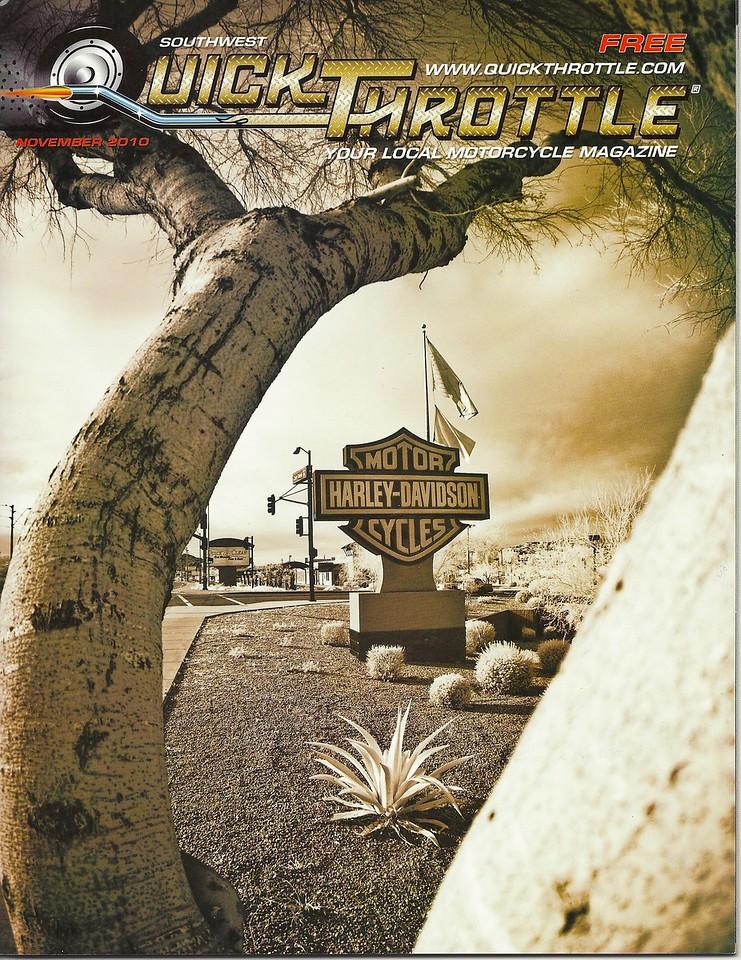 November 2010 Cover of Quick Throttle Magazine